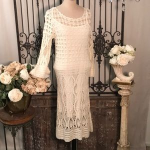 NWT Maggy London crocheted midi dress